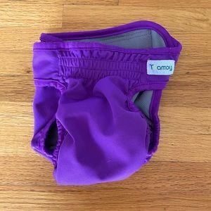 Reusable Purple Dog Diaper   Size Medium